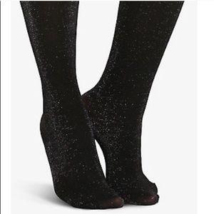 Torrid Sparkly black tights 3X/4X